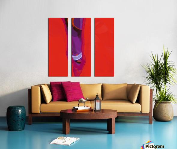 Violet Shape Split Canvas print
