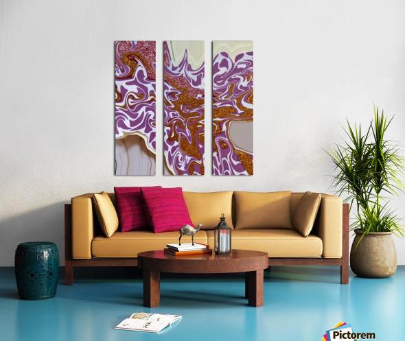 3D Pour Split Canvas print