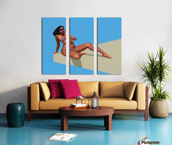 Sunbather Split Canvas print