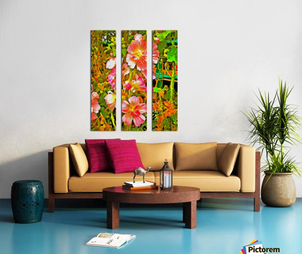 Penstemon Pop Art Style Split Canvas print
