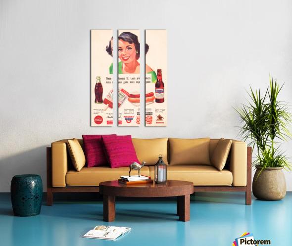 Vintage St. Louis Sportsman Park Concessions Ad Split Canvas print