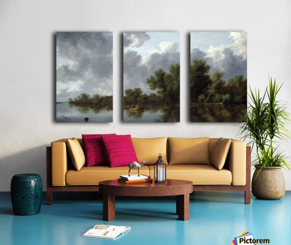 River Scene Split Canvas print