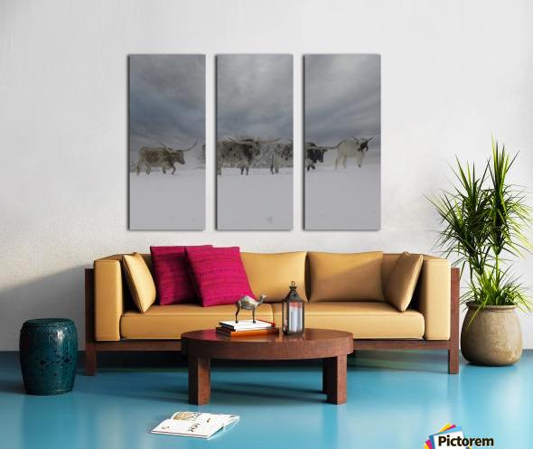 Longhorns Split Canvas print