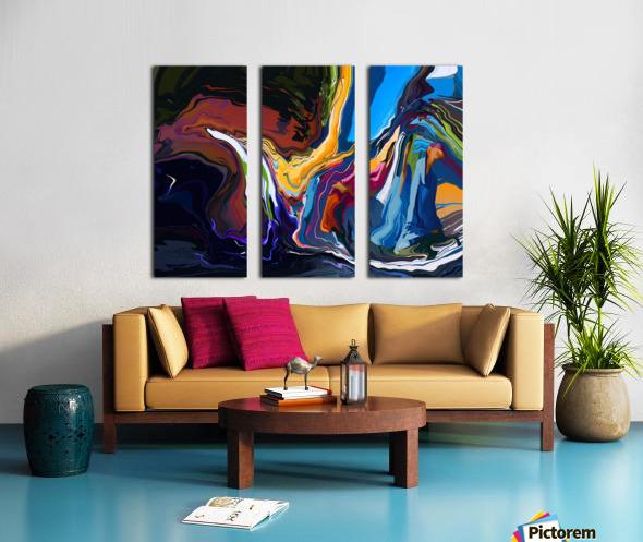 Blue Monaco Split Canvas print