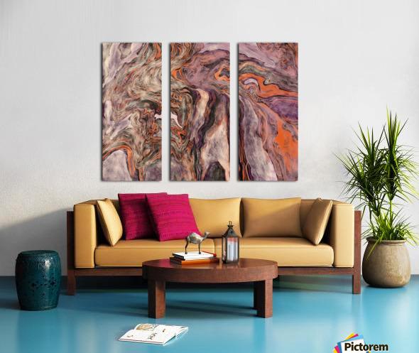 Fire Fall Split Canvas print