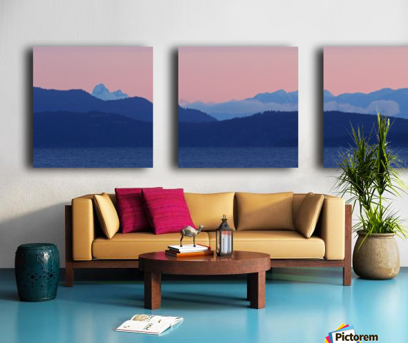 Pink And Blue by Randy Hall Split Canvas print