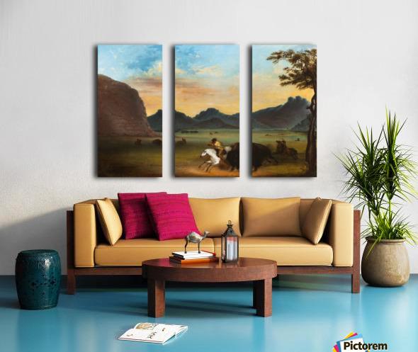 Buffalo Hunt Split Canvas print