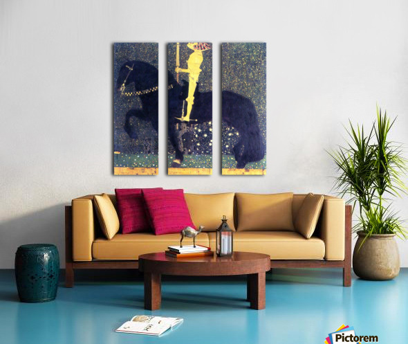 The life of a struggle (The Golden Knights) by Klimt Split Canvas print