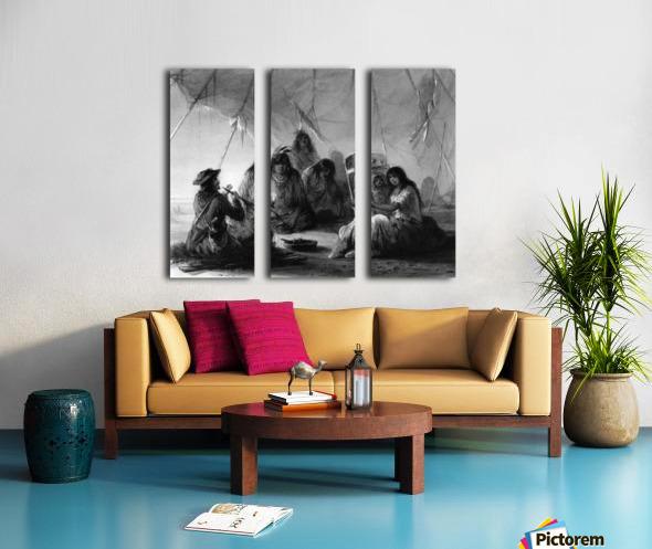 Indian hospitality Split Canvas print