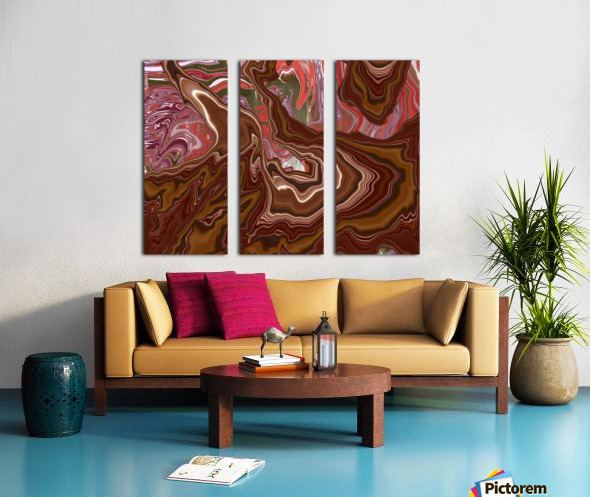 Gush Split Canvas print