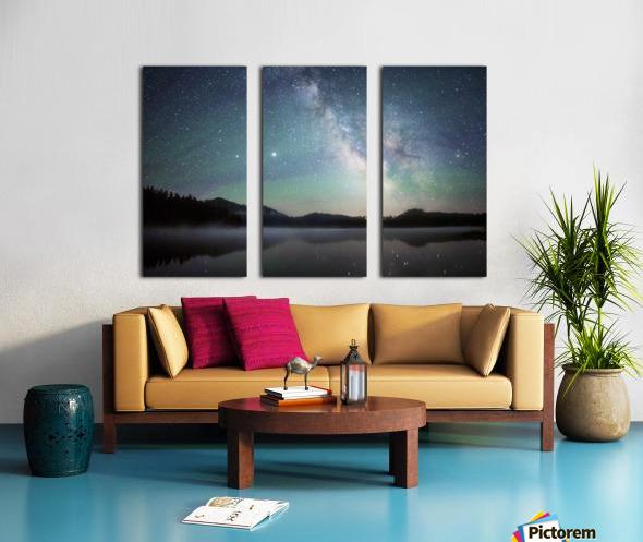 Stockade Lake and The Milky Way Split Canvas print