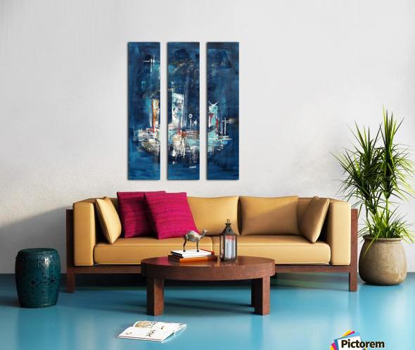 Uptown starry night II Split Canvas print