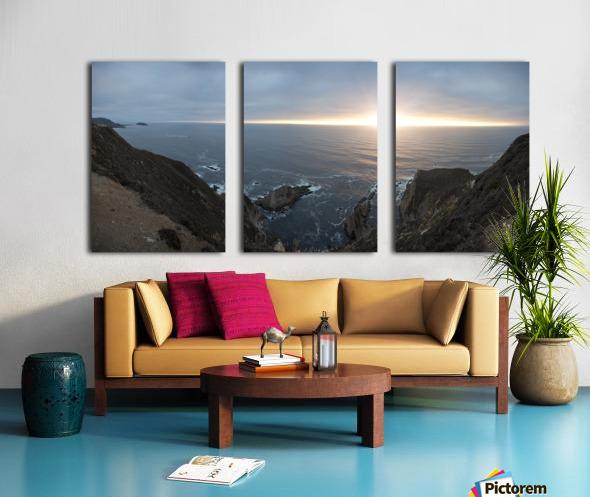 Pacific Coast Sunset Split Canvas print