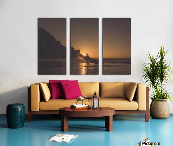 Morro Bay Surfer Split Canvas print