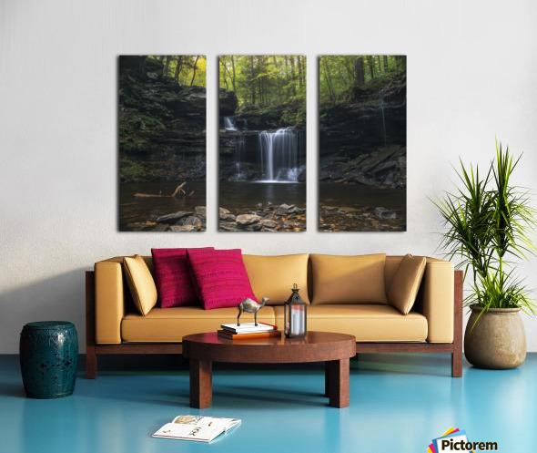 RB Ricketts Falls Split Canvas print