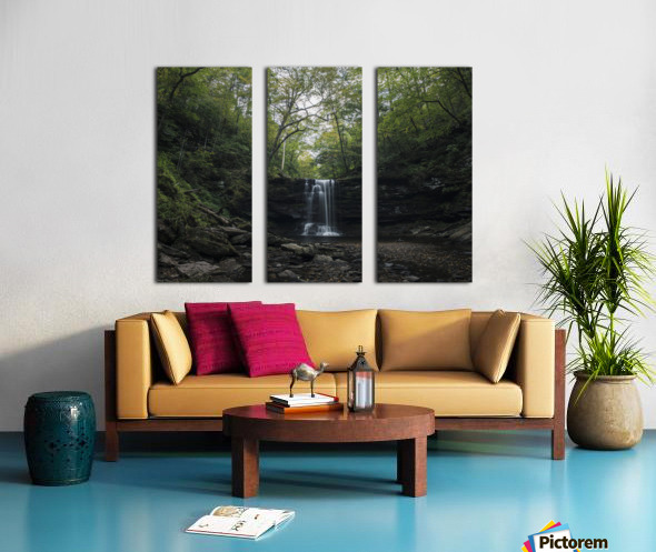 Harrison Wright Falls Split Canvas print
