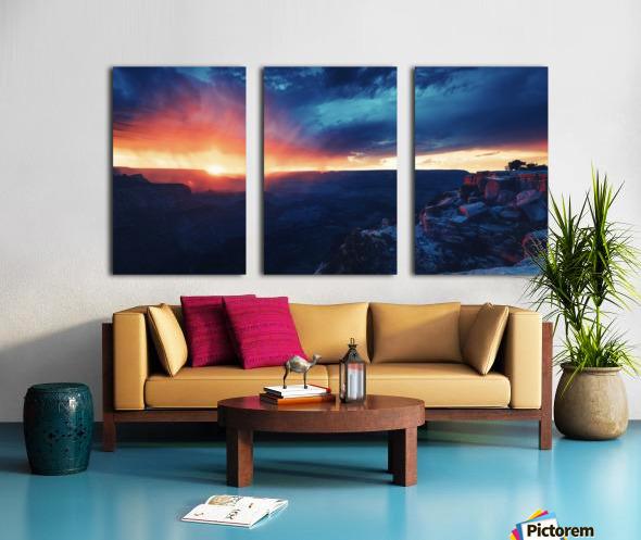 The Grandest Sunset Split Canvas print