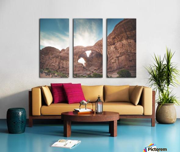 The Double Arch Split Canvas print