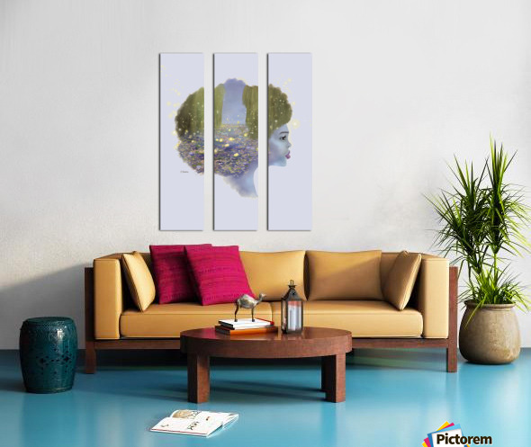 Weeping Willow Split Canvas print