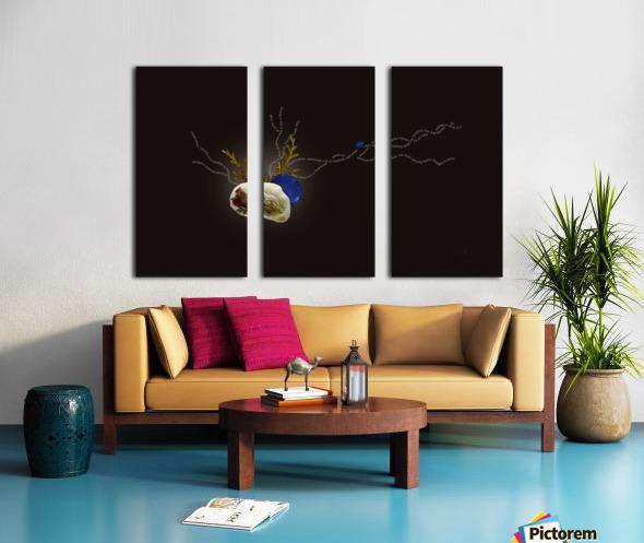 Petals Split Canvas print