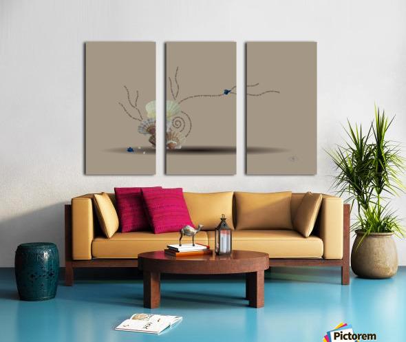 Incensed Split Canvas print