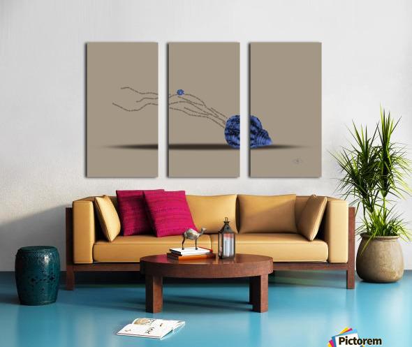 Plankton Split Canvas print