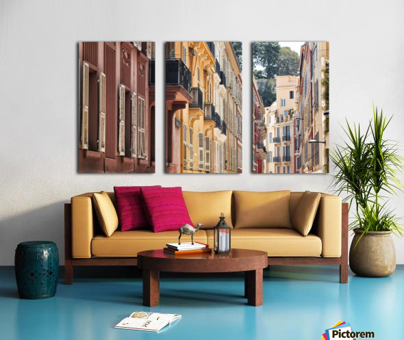 Monaco Street Split Canvas print