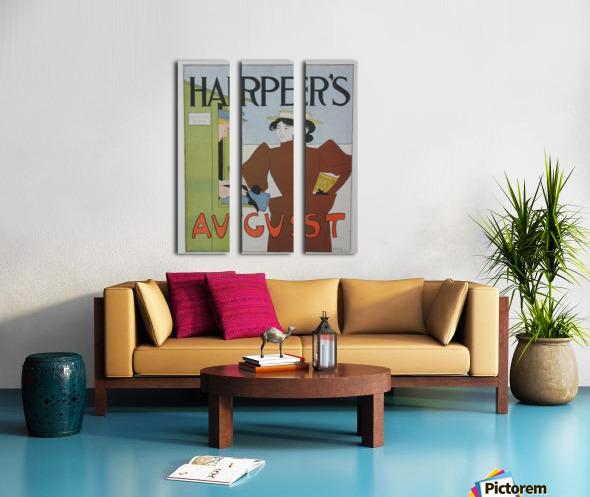 Harper's August Bathing Split Canvas print