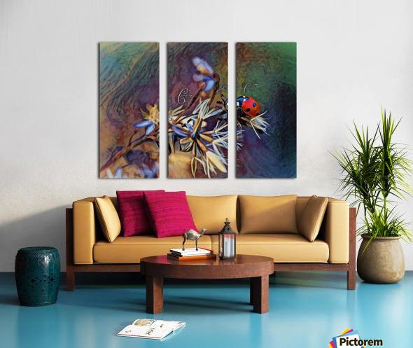 Cocci Art Giaro Cavalli Split Canvas print