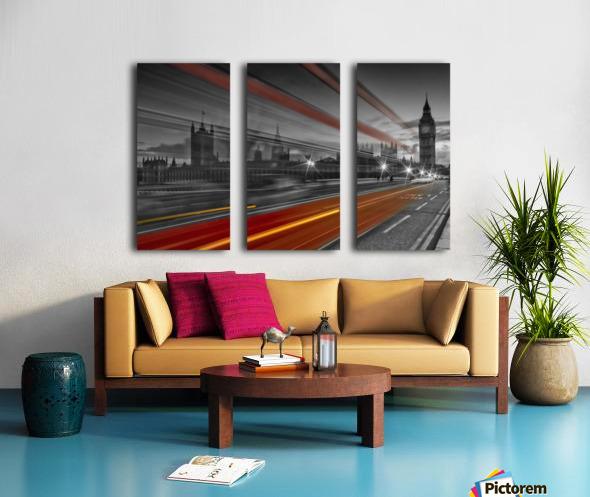 LONDON Red Bus Split Canvas print