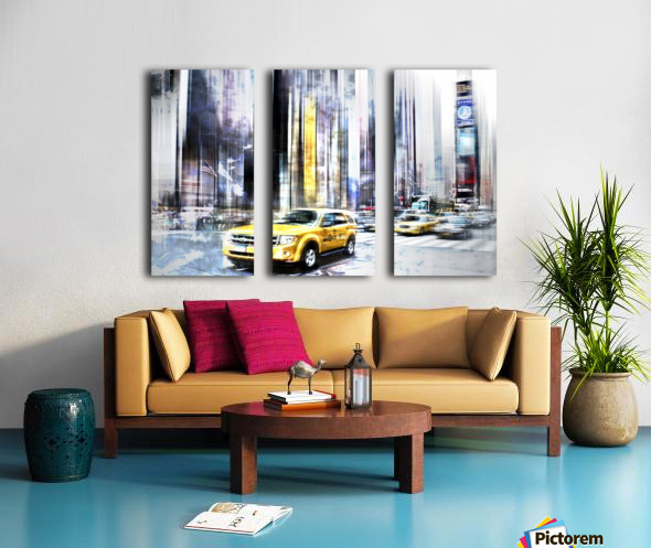 City-Art TIMES SQUARE II Split Canvas print