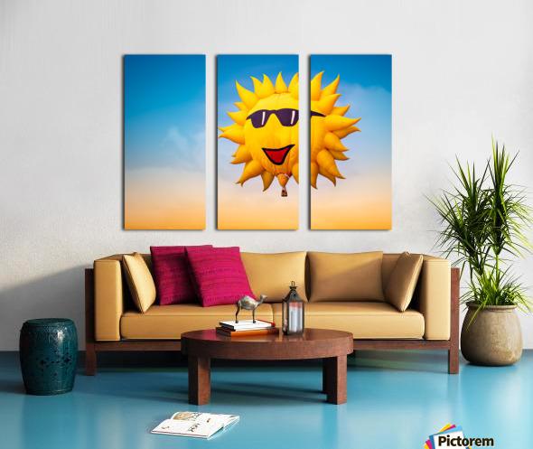 Forecast Clear and Sunny Split Canvas print