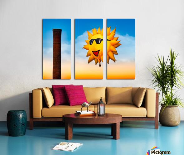 Sunny and the Smokestack Split Canvas print