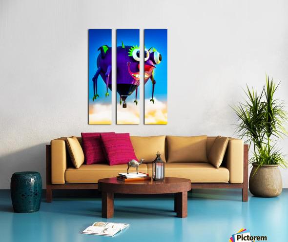 Flying Purple People Eater Split Canvas print