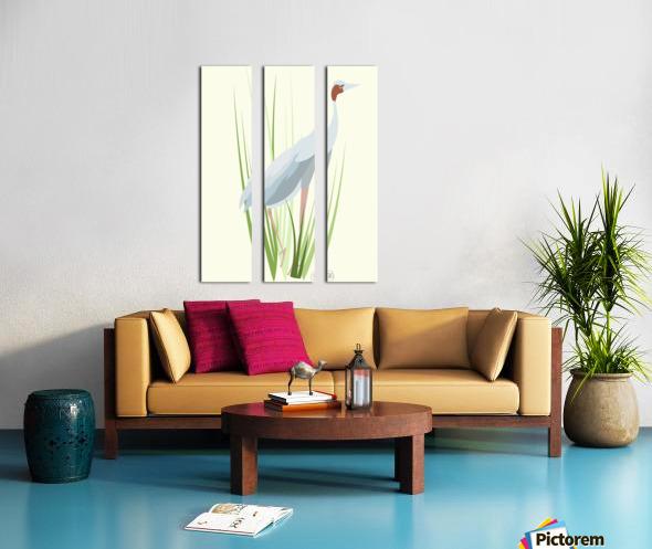 Sarus Crane Split Canvas print