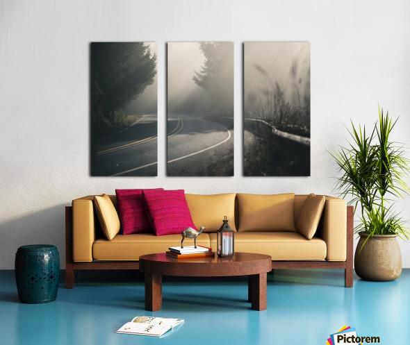 Pacific Coast Highway Mist Split Canvas print