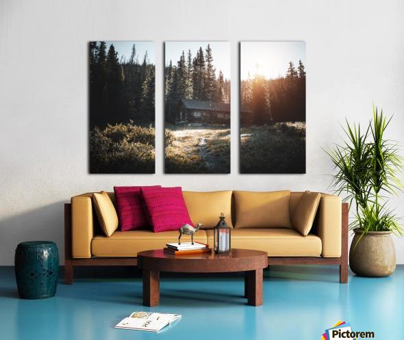 Rocky Mountain Cabin Split Canvas print