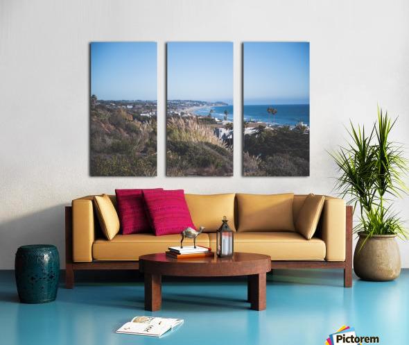 Malibu California Split Canvas print