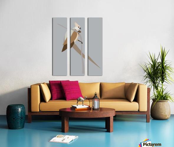 Blue-Naped Mouse Bird Split Canvas print