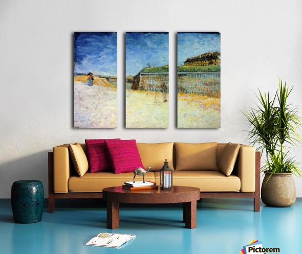 The Ramparts of Paris2 by Van Gogh Split Canvas print