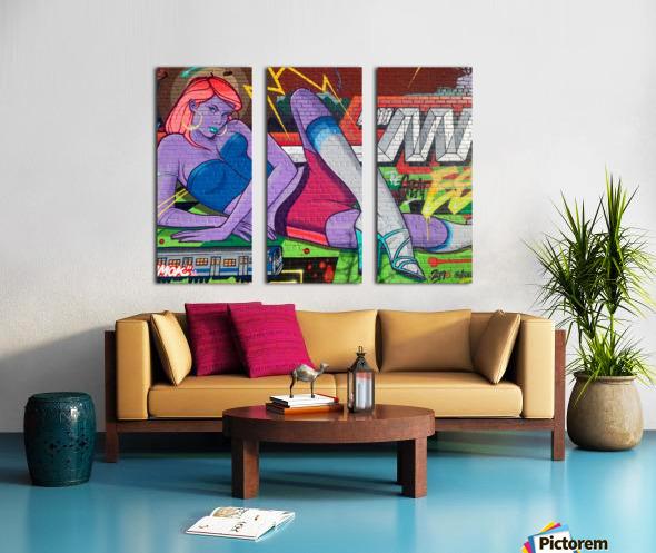 Graffiti Glam  Split Canvas print