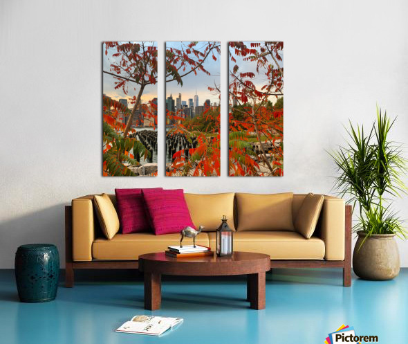 Autumn in New York  Split Canvas print