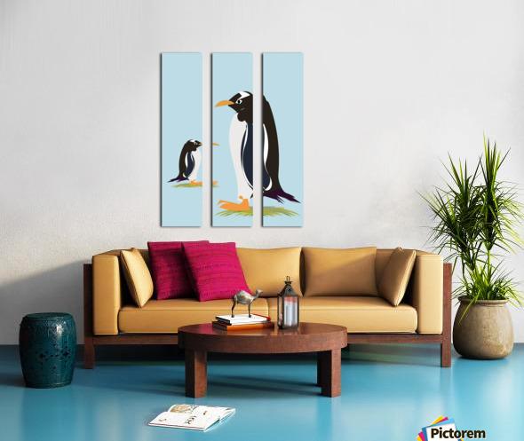 Gento Penguin Split Canvas print