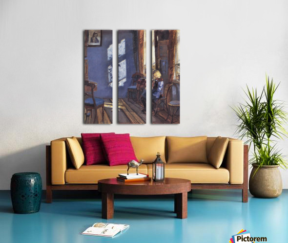 Sunshine in the blue room by Anna Ancher Split Canvas print