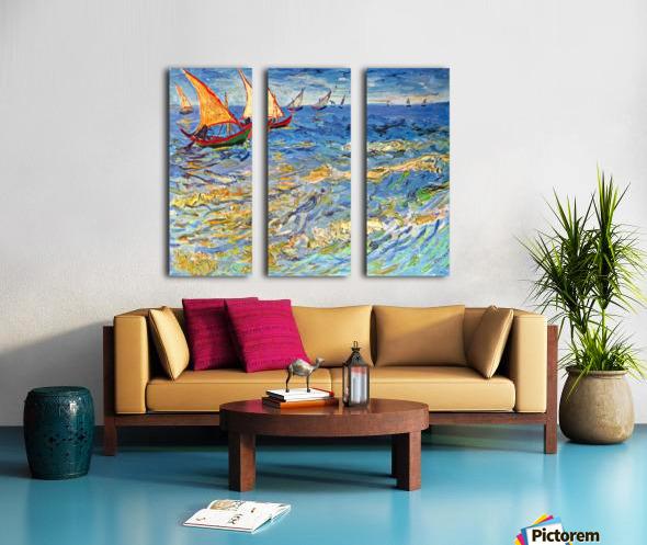 The sea at Saintes-Maries by Van Gogh Split Canvas print