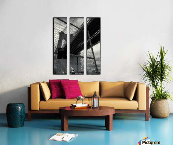 Do Not Enter Split Canvas print