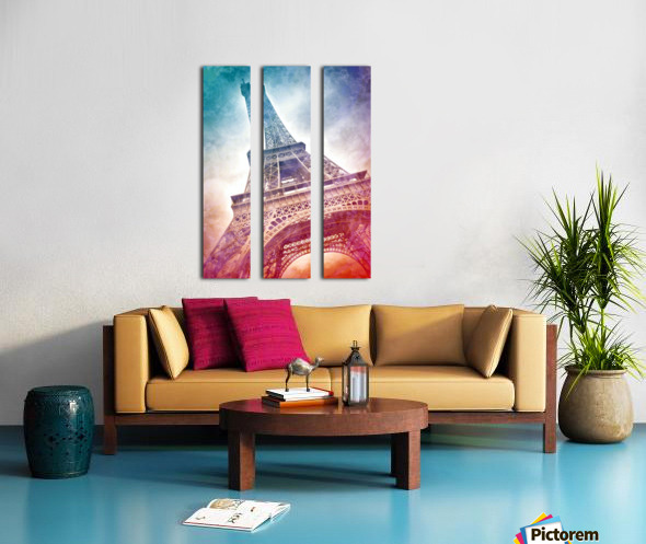 Modern-Art EIFFEL TOWER Split Canvas print