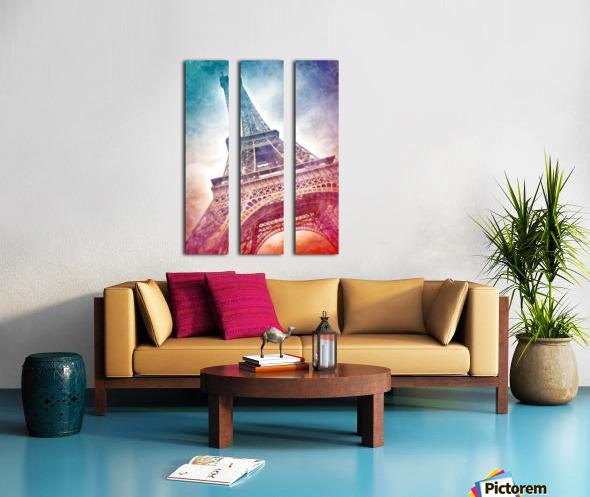 Modern-Art EIFFEL TOWER Split Canvas print