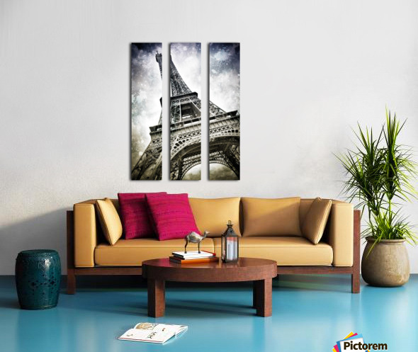 Modern-Art PARIS Eiffel Tower Splashes Split Canvas print