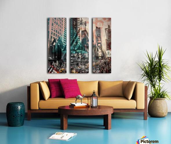 New York City Geometric Mix No. 4 Split Canvas print